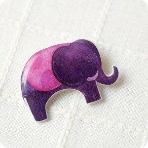 Брошь Ягодный слон