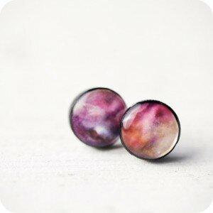 Серьги Nebula Pink (гвоздики)