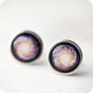Запонки Nebula blue